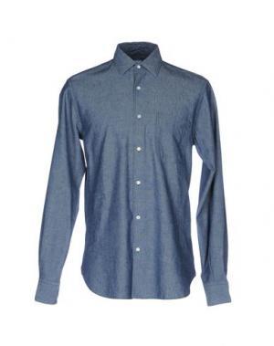 Джинсовая рубашка ASPESI. Цвет: синий