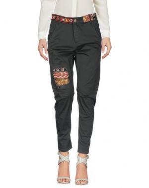 Повседневные брюки DESIGUAL. Цвет: свинцово-серый
