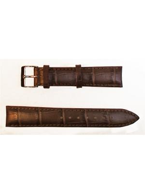 Ремень для часов, им. АЛЛИГАТОРА, коричневый, 18 х 16 Othello. Цвет: коричневый