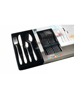 Набор столовых приборов LEMGO 30 шт в подарочной упаковке Carl Schmidt Sohn. Цвет: серебристый