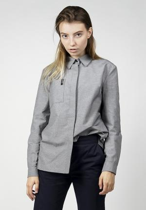 Рубашка BURLO. Цвет: серый