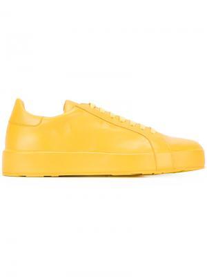 Кеды на шнуровке Jil Sander. Цвет: жёлтый и оранжевый