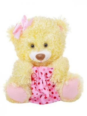 Мягкая игрушка Медведь праздничный, Malvina. Цвет: желтый