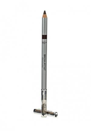 Карандаш для бровей LOreal Paris L'Oreal. Цвет: коричневый