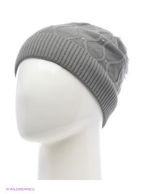 Колибри Беркле шапка женская с помпоном Berkle. Цвет: серый