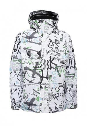 Куртка горнолыжная Quiksilver. Цвет: белый