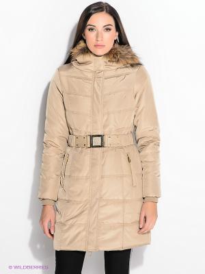 Пальто FRACOMINA. Цвет: бежевый