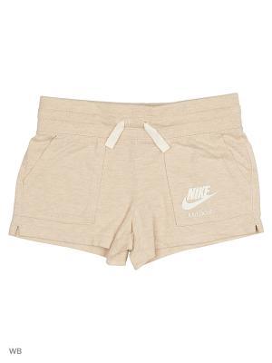Шорты GYM VINTAGE SHORT YTH Nike. Цвет: бежевый