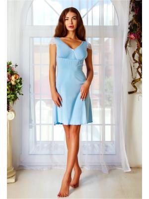 Ночная сорочка Анатель. Цвет: голубой