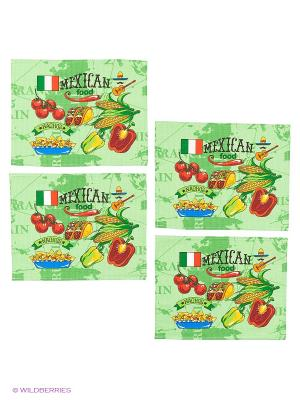 Набор салфеток Метиз. Цвет: зеленый
