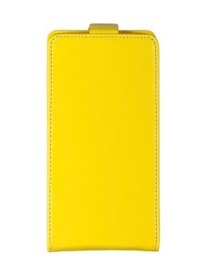 Flip case skinBOX HTC One M8. Цвет: желтый