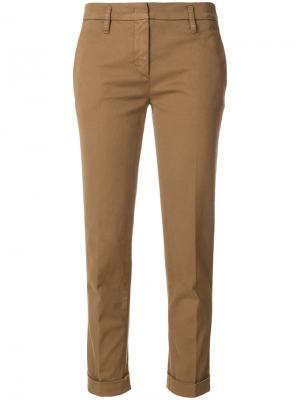 Строгие укороченные брюки Aspesi. Цвет: коричневый