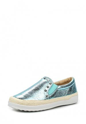 Слипоны Sweet Shoes. Цвет: голубой