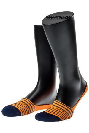 Носки ASKOMI. Цвет: оранжевый, синий