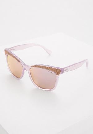 Очки солнцезащитные Ralph Lauren. Цвет: фиолетовый