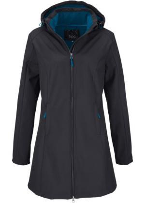 Функциональная куртка-софтшелл с плюшевой подкладкой (черный) bonprix. Цвет: черный