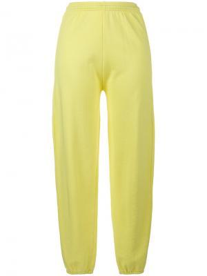 Спортивные брюки с завышенной талией и принтом Gimme Five Ashley Williams. Цвет: жёлтый и оранжевый