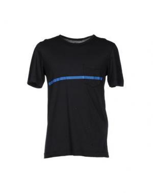 Футболка U CLOTHING. Цвет: темно-синий