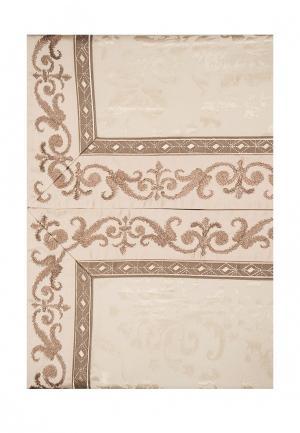 Комплект постельного белья Евро Asabella. Цвет: бежевый