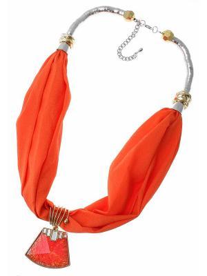 Платок Nina Ford. Цвет: оранжевый, золотистый