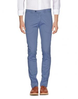 Повседневные брюки B SETTECENTO. Цвет: пастельно-синий