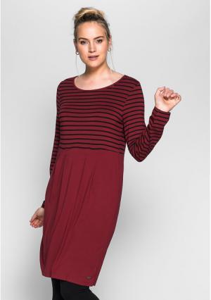 Платье sheego. Цвет: светло-серый/черный