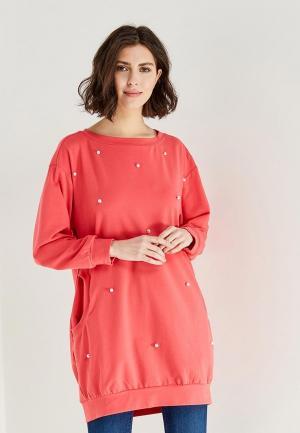 Платье Shelter. Цвет: коралловый