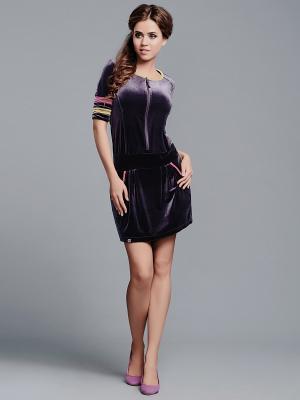Платье NicClub. Цвет: фиолетовый