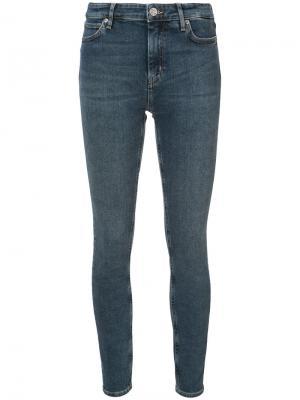 Облегающие джинсы Bridge Mih Jeans. Цвет: синий