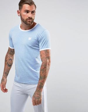 Good For Nothing Голубая обтягивающая футболка. Цвет: синий