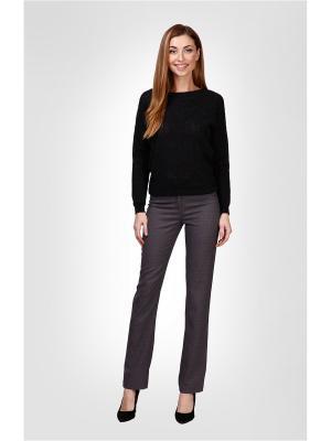 Брюки Milana Style. Цвет: серый