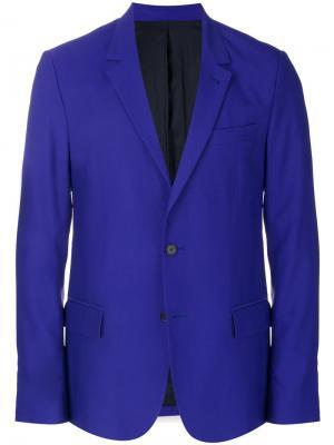 Пиджак на двух пуговицах с подкладкой Ami Alexandre Mattiussi. Цвет: розовый и фиолетовый