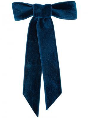 Бархатная заколка для волос Jennifer Behr. Цвет: синий