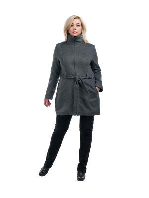 Пальто OLSI. Цвет: серый