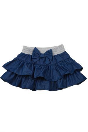 Юбка MINI-MAXI. Цвет: синий