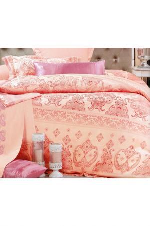 Постельное белье Дуэт - 4 нав. ТекСтильный Каприз. Цвет: персиковый, розовый