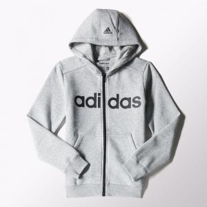 Джемпер с капюшоном на молнии спорт YB ESS LIN FZBR  Performance adidas. Цвет: черный