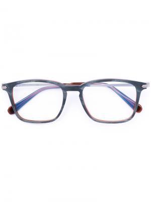 Очки в квадратной оправе Brioni. Цвет: серый