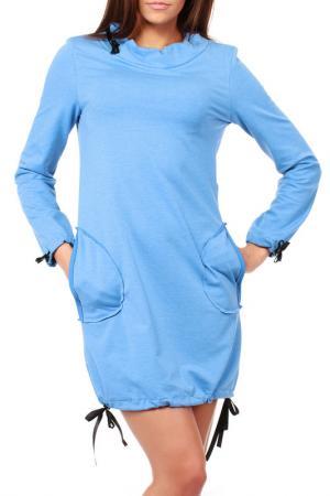 Платье Moe. Цвет: синий