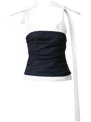 Блузка на лямках Jacquemus. Цвет: синий