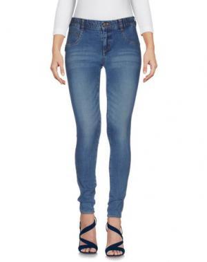Джинсовые брюки LEGZ. Цвет: синий