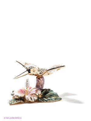 Статуэтка Колибри на цветке Юнион. Цвет: золотистый, зеленый