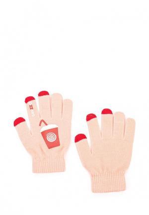 Перчатки Grezzo. Цвет: коралловый