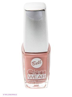 Устойчивый лак для ногтей с глянцевым эффектом Glam Wear, тон 442 Bell. Цвет: бежевый