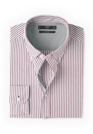 Рубашка Mango Man. Цвет: розовый