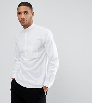 Noak Рубашка с укороченной планкой на пуговицах. Цвет: белый