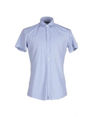 Pубашка GREY DANIELE ALESSANDRINI. Цвет: лазурный