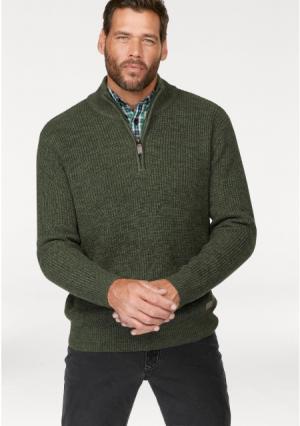 Пуловер MANS WORLD MAN'S. Цвет: бордовый/синий меланжевый, серый/зеленый меланжевый