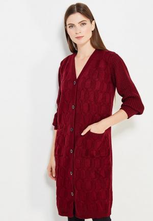 Кардиган Pettli Collection. Цвет: бордовый