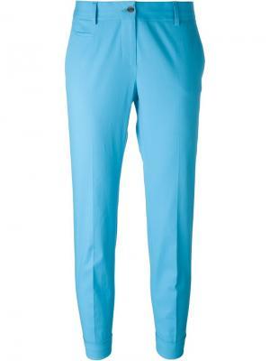 Укороченные брюки строгого кроя Alberto Biani. Цвет: синий